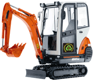 Mini digger hire with driver in Warwickshire